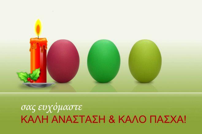 Καλές γιορτές, καλή Ανάσταση, καλό Πάσχα